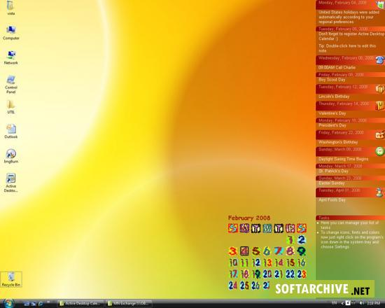 Active Desktop Calendar v7.52 Build 080603