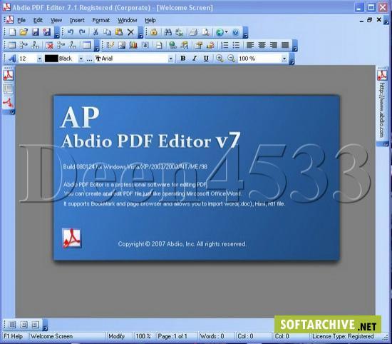 Abdio PDF Editor v7.1 Build 080124 Reupload → Office